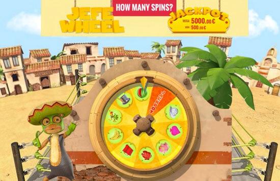 Bonus lykkehjul på CasinoJEFE