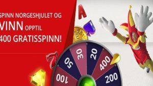 Spinn på Norgeshjulet og vinn gratisspinn