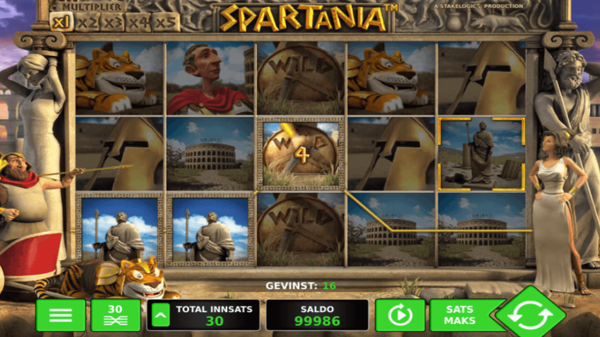 spartania spilleautomat